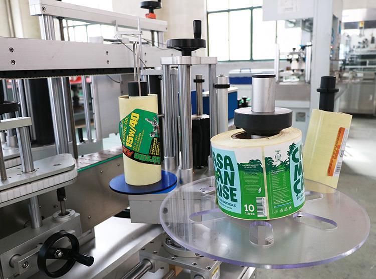 Automaitc zelfklevende twee sticker platte ronde fles etiketteermachine