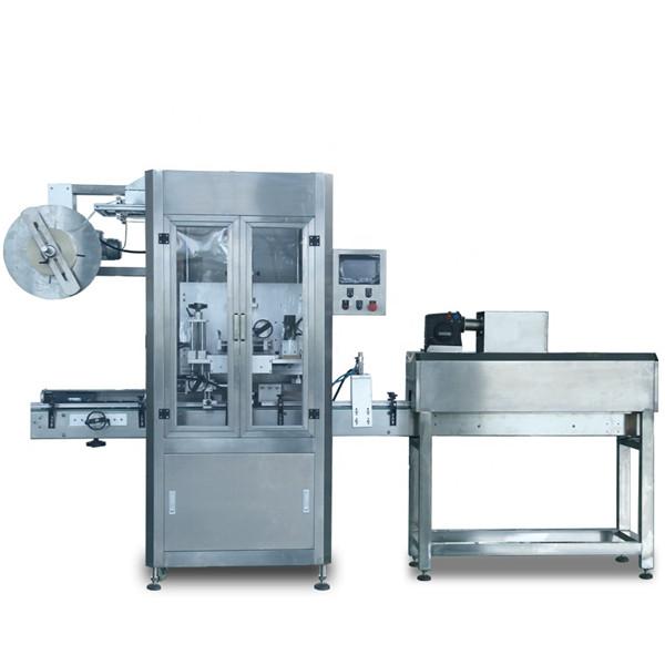 De automatische Plastic Koker van Flessenpvc Etikettering Krimpt Machine