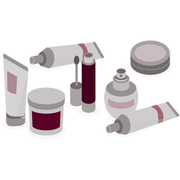Apparatuur voor het etiketteren van cosmetica