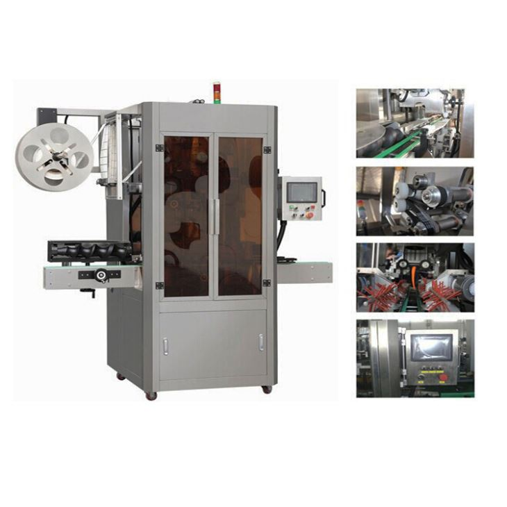 Hoge snelheid volledig automatische PVC mouw krimpen applicator etiketteringsmachine