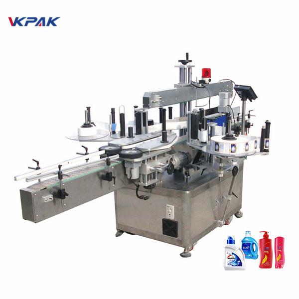 Hoge snelheid pneumatische automatische dubbelzijdige platte fles etiketteermachine