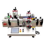 Tafelbladverf kan rond flesetiketteringsmachine worden gewikkeld