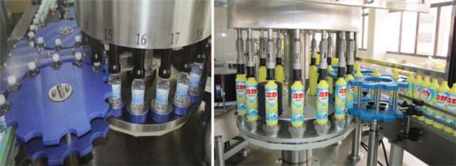 De details van een automatische etiketteermachine voor roterende positionering