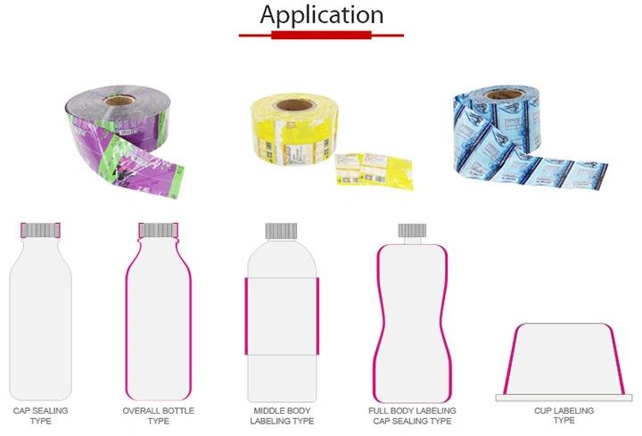 Twee-kop automatische plastic glazen fles krimpen etiketteringsmachine